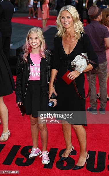 Ulrika Jonsson and daughter attend the World Premiere of 'One Direction This Is Us' at Empire Leicester Square on August 20 2013 in London England