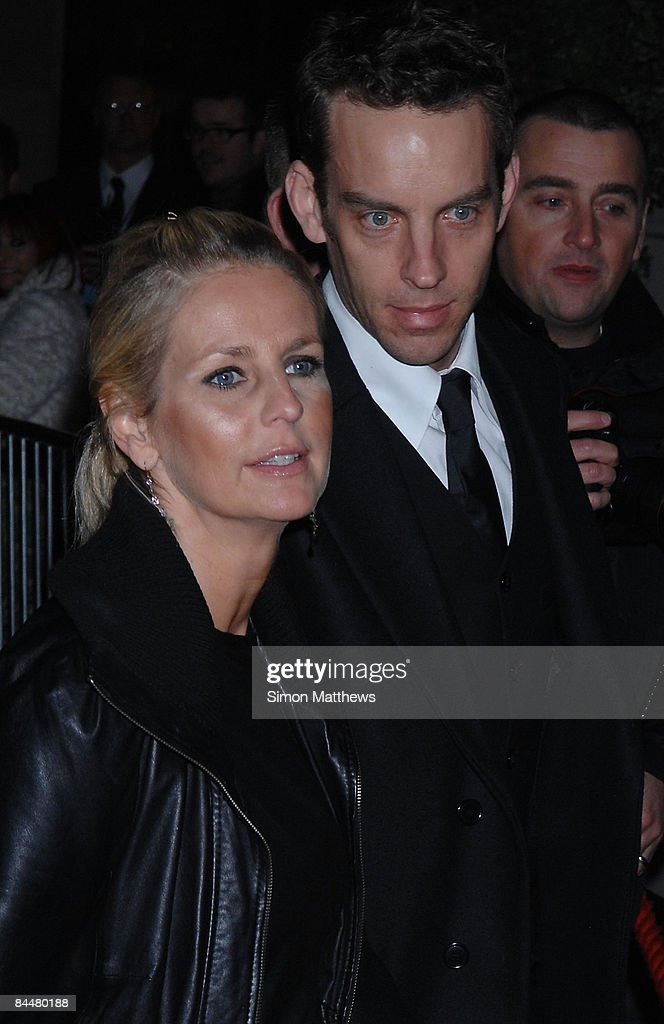Ulrika Jonsson and guest attend the Celebrity Big Brother wrap party on January 26, 2009 in London, England.
