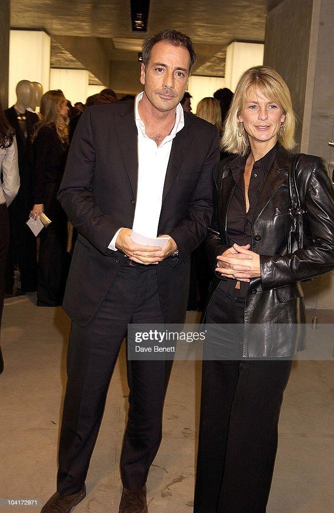 Ulrika Jonsson & Friend, Russell Crowe Oscar Nomination Cocktail & Dinner Party, New Giorgio Armani Shop, Bond Street & Supper & Hakkasan, London.