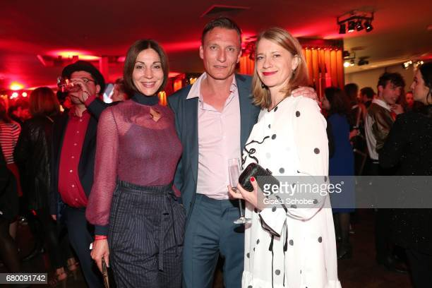 Ulrike C Tscharre Oliver Masucci and Caroline Peters during the New Faces Award Film at Haus Ungarn on April 27 2017 in Berlin Germany