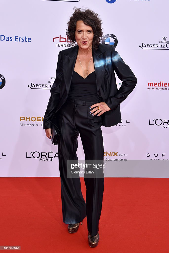 Ulrike Folkerts attends the Lola - German Film Award (Deutscher Filmpreis) on May 27, 2016 in Berlin, Germany.