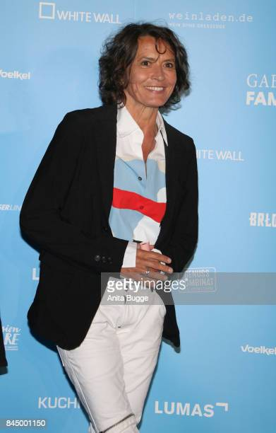 Ulrike Folkerts attends the opening of the exhibition 'Gabo Fame' at HumboldBox on September 9 2017 in Berlin Germany