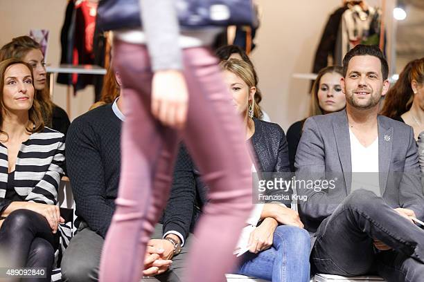 Ulrike Frank Alina Merkau and Matthias Killing attend the 'La Boum Fashion Studio' by Soccx in Hoppegarten on September 18 2015 Berlin Germany