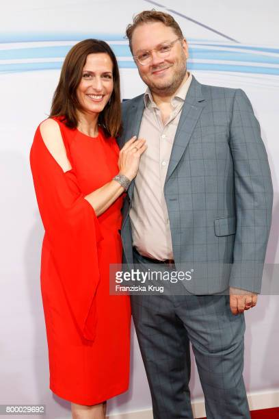 Ulrike Frank and her husband Marc Schubring attend the 'Bertelsmann Summer Party' at Bertelsmann Repraesentanz on June 22 2017 in Berlin Germany