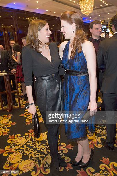 Ulrike Frank and Janina Batoly attend Movie Meets Media at Ritz Carlton on February 6 2015 in Berlin Germany
