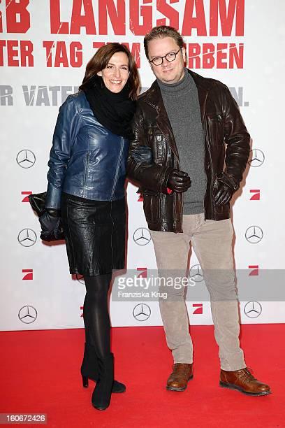 Ulrike Frank and Marc Schubring attend the German premiere of 'Die Hard Ein Guter Tag Zum Sterben' at the cinestar Potsdamer Platz on February 4 2013...