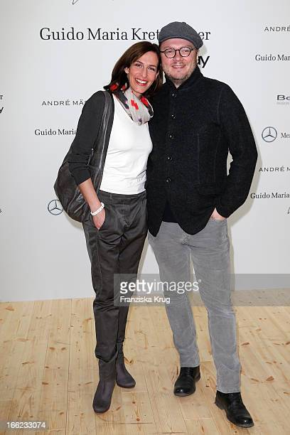 Ulrike Frank and Marc Schubring attend the Guido Maria Kretschmer For eBay Collection Launch at Label 2 on April 10 2013 in Berlin Germany
