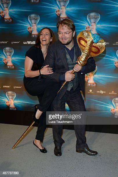Ulrike Frank and Marc Schubring attend 'The Wyld Nicht von dieser Welt' Premiere at FriedrichstadtPalast on October 23 2014 in Berlin Germany