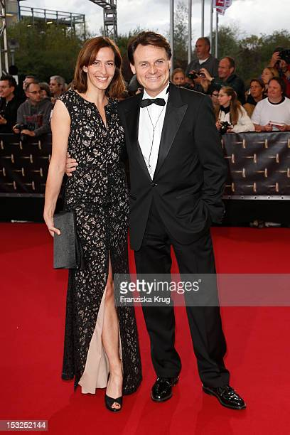 Ulrike Frank and Wolfgang Bahro attend the German TV Awards 2012 at Coloneum on October 2 2012 in Cologne Germany