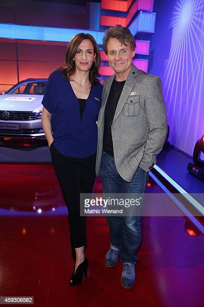 Ulrike Frank and Wolfgang Bahro attend the RTL Telethon 2014 on November 20 2014 in Cologne Germany