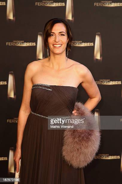 Ulrike Frank arrives at the red carpet of the 'Deutscher Fernsehpreis 2013' at Coloneum on October 2 2013 in Cologne Germany