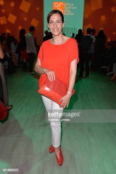 Ulrike Frank attends the 1981 Maxhosa By Laduma Soboye show during the MercedesBenz Fashion Week Spring/Summer 2015 at Erika Hess Eisstadion on July...