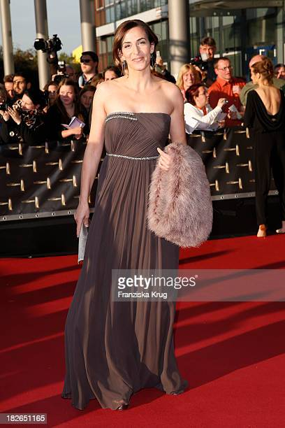 Ulrike Frank attends the Deutscher Fernsehpreis 2013 Red Carpet Arrivals at Coloneum on October 02 2013 in Cologne Germany