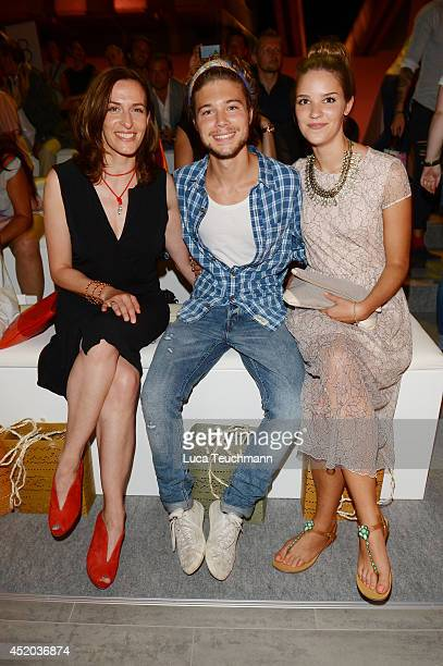 Ulrike Frank attends the Irene Luft show during the MercedesBenz Fashion Week Spring/Summer 2015 at Erika Hess Eisstadion on July 11 2014 in Berlin...