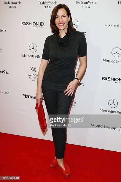 Ulrike Frank attends the Minx by Eva Lutz show during MercedesBenz Fashion Week Autumn/Winter 2014/15 at Brandenburg Gate on January 15 2014 in...