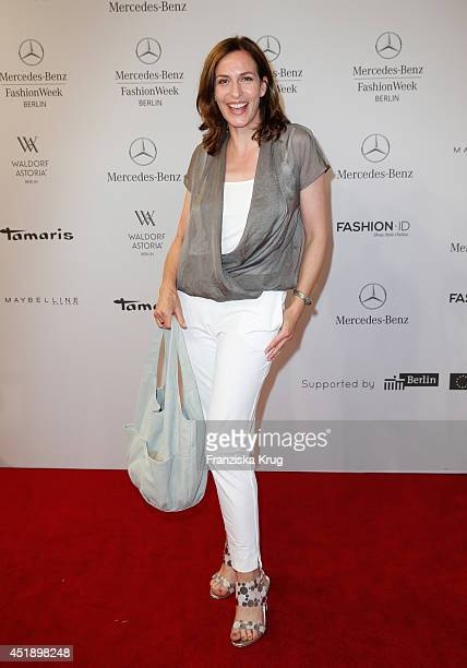 Ulrike Frank attends the Minx by Eva Lutz show during the MercedesBenz Fashion Week Spring/Summer 2015 at Erika Hess Eisstadion on July 9 2014 in...
