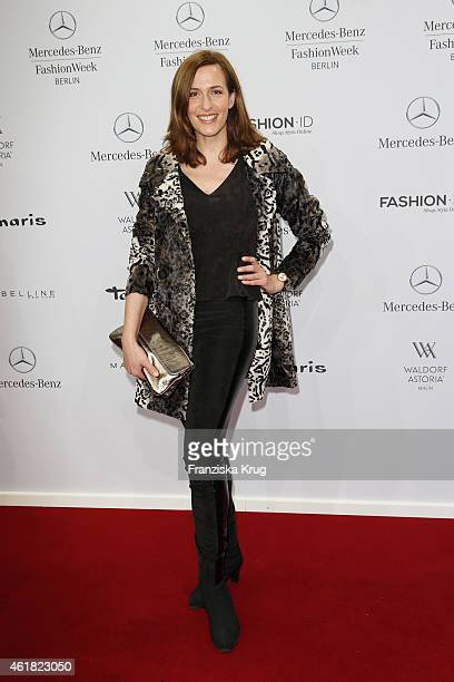 Ulrike Frank attends the Minx by Eva Lutz show during the MercedesBenz Fashion Week Berlin Autumn/Winter 2015/16 at Brandenburg Gate on January 20...