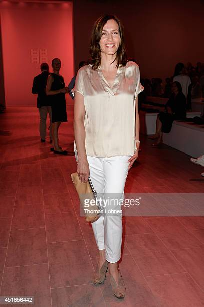 Ulrike Frank attends the Riani show during the MercedesBenz Fashion Week Spring/Summer 2015 at Erika Hess Eisstadion on July 8 2014 in Berlin Germany