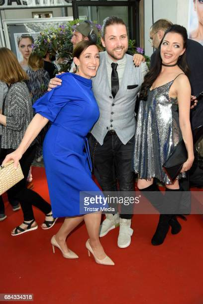 Ulrike Frank Felix von Jascheroff and Anne Menden attend the 25th anniversary party of the TV show 'GZSZ' on May 17 2017 in Berlin Germany