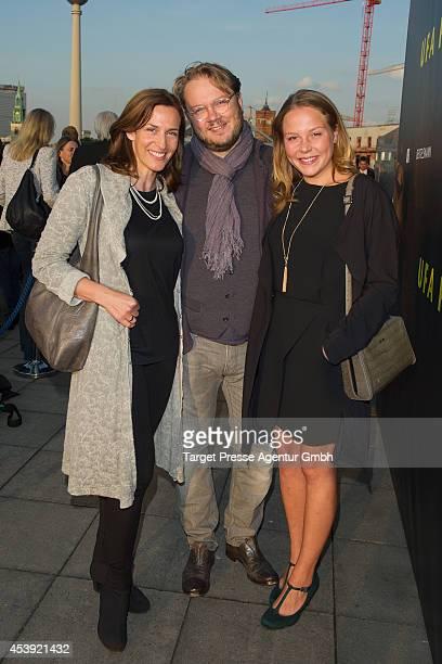 Ulrike Frank Marc Schubring and Franziska van der Heide attends the UFAMovie Nights 2014 at Bertelsmann Repraesentanz on August 21 2014 in Berlin...