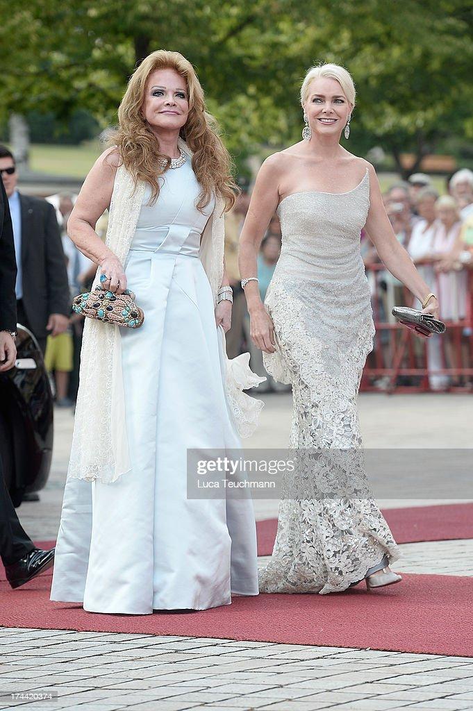 Ulrike Huebner and Sabina Huebner attend the Bayreuth Festival opening on July 25, 2013 in Bayreuth, Germany.