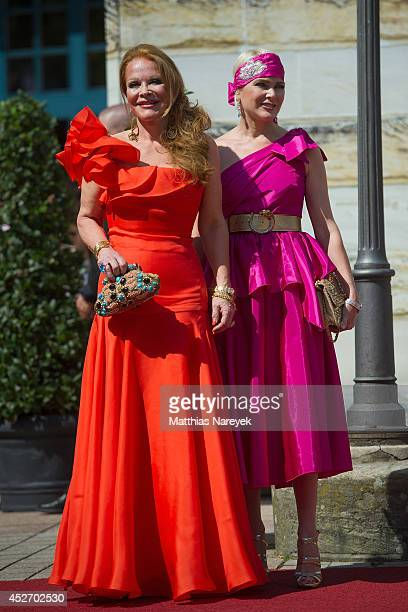 Ulrike Huebner and Sabine Huebner attend the Bayreuth Festival Opening 2014 on July 25 2014 in Bayreuth Germany