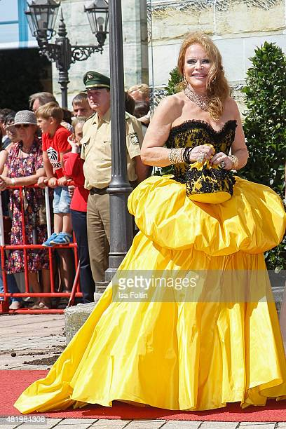 Ulrike Huebner attends the Bayreuth Festival 2015 Opening on July 25 2015 in Bayreuth Germany