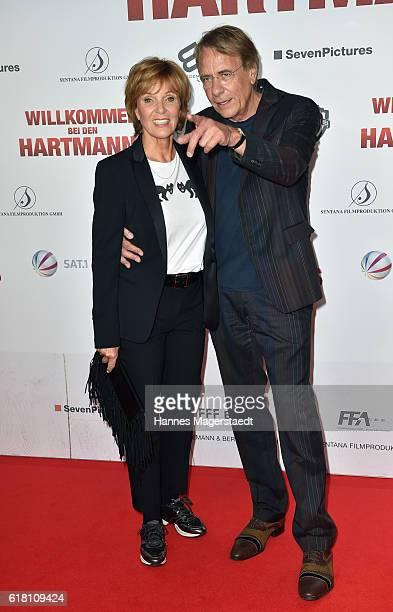 Ulrike Kriener and her husband Georg Weber during the 'Willkommen bei den Hartmanns' premiere at Mathaeser Filmpalast on October 25 2016 in Munich...