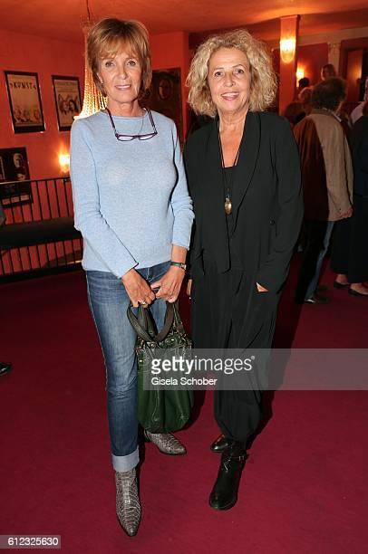 Ulrike Kriener and Michaela May during the 'Gluecklich die Gluecklichen' premiere at Komoedie im Bayerischen Hof on October 3 2016 in Munich Germany