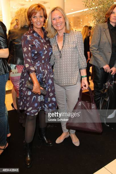 Ulrike Kriener Sybille Beckenbauer attend the 'Studio Italia La Perfezione del Gusto' grand opening at Oberpollinger on April 8 2014 in Munich Germany
