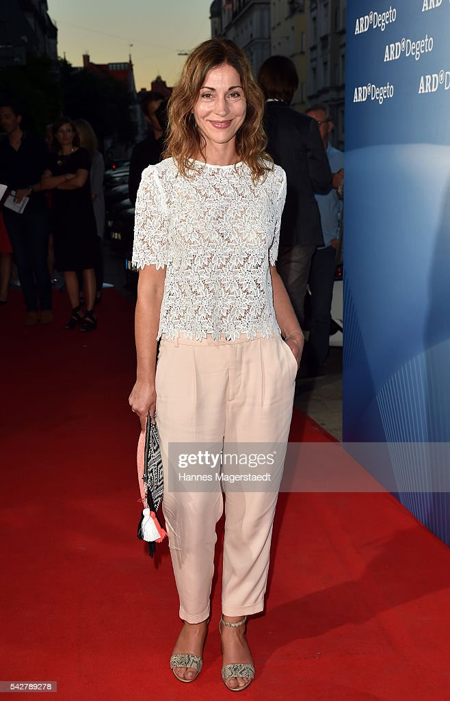 Ulrike Tscharre during the ARD Degeto Get Together during the Munich Film Festival 2016 at Kaisergarten on June 24, 2016 in Munich, Germany.