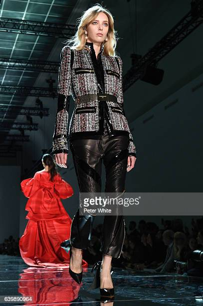 Ulrikke Hoyer walks the runway during the Alexandre Vauthier Spring Summer 2017 show as part of Paris Fashion Week on January 24 2017 in Paris France
