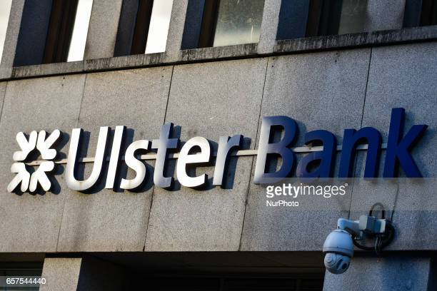 Ulster Bank logo in Dublin city center Ulster Bank Chief Executive Gerry Mallon announced that Ulster Bank to close 22 branches in Ireland with 220...