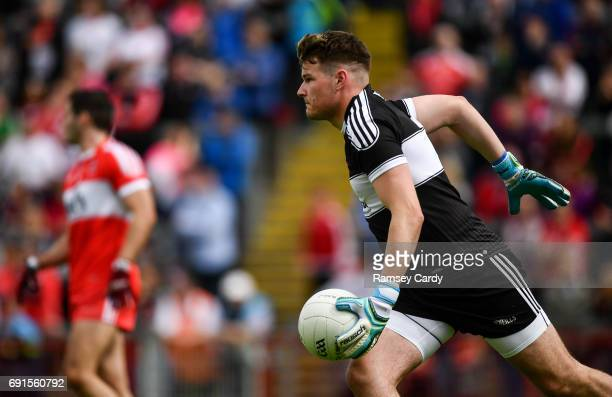 Ulster Ireland 28 May 2017 Ben McKinless of Derry during the Ulster GAA Football Senior Championship QuarterFinal match between Derry and Tyrone at...