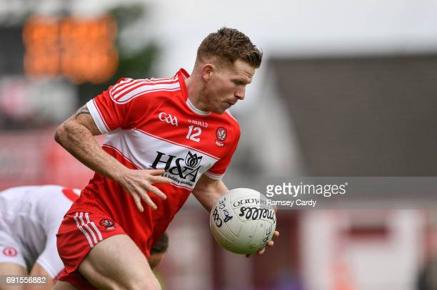 Ulster Ireland 28 May 2017 Enda Lynn of Derry during the Ulster GAA Football Senior Championship QuarterFinal match between Derry and Tyrone at...