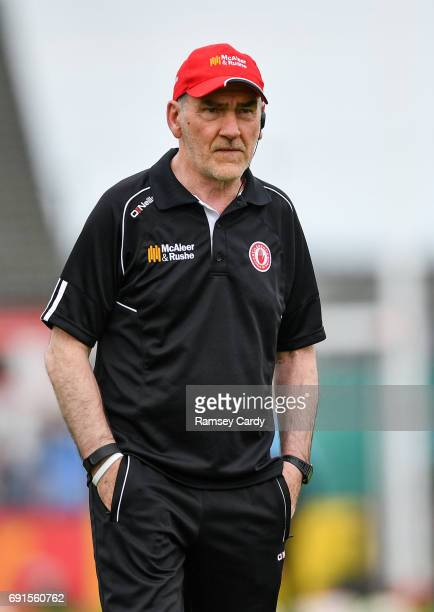 Ulster Ireland 28 May 2017 Tyrone manager Mickey Harte during the Ulster GAA Football Senior Championship QuarterFinal match between Derry and Tyrone...