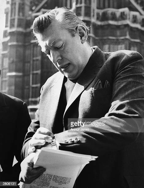Ulster Protestant clergyman and politician Ian Paisley outside the Palace of Westminster 24th March 1972