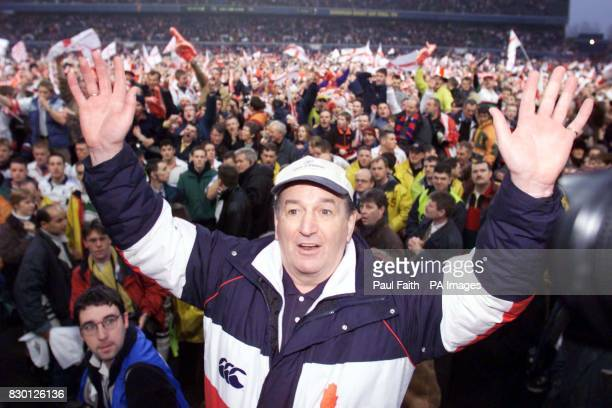 Ulster Rugby Coach Harry Williams gets a heroes reception at Lansdowne road after his side beat the French team Colomiers 216 in theEuropean Cup Final