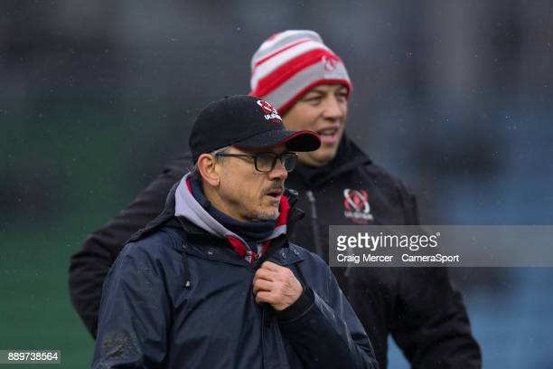 Ulster Rugby's Director of Rugby Les Kiss during the European Rugby Champions Cup match between Harlequins and Ulster Rugby at Twickenham Stoop on...
