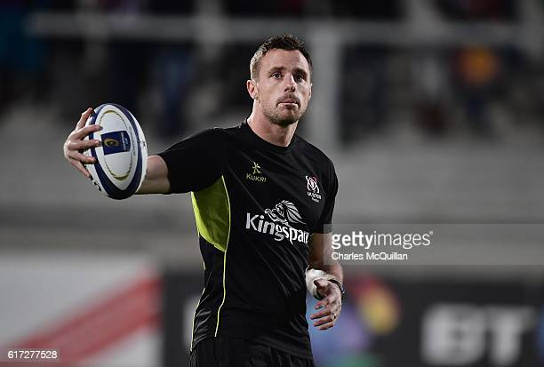 Ulster rugby's Tommy Bowe pictured before the Champions Cup Pool 5 game between Ulster and Exeter Chiefs at Kingspan Stadium on October 22 2016 in...
