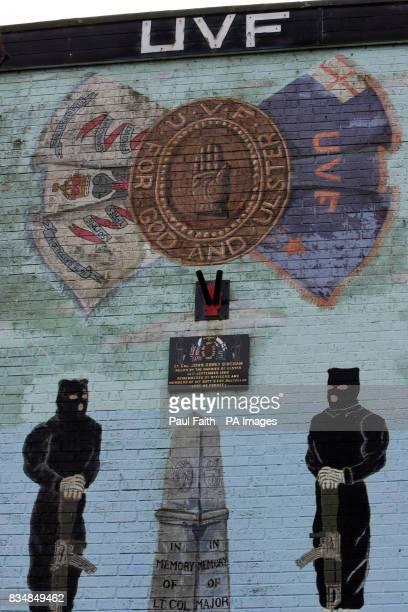 A Ulster Volunteer Force wall mural in north Belfast