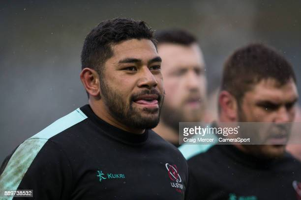 Ulsters Charles Piutau during the pre match warm up during the European Rugby Champions Cup match between Harlequins and Ulster Rugby at Twickenham...