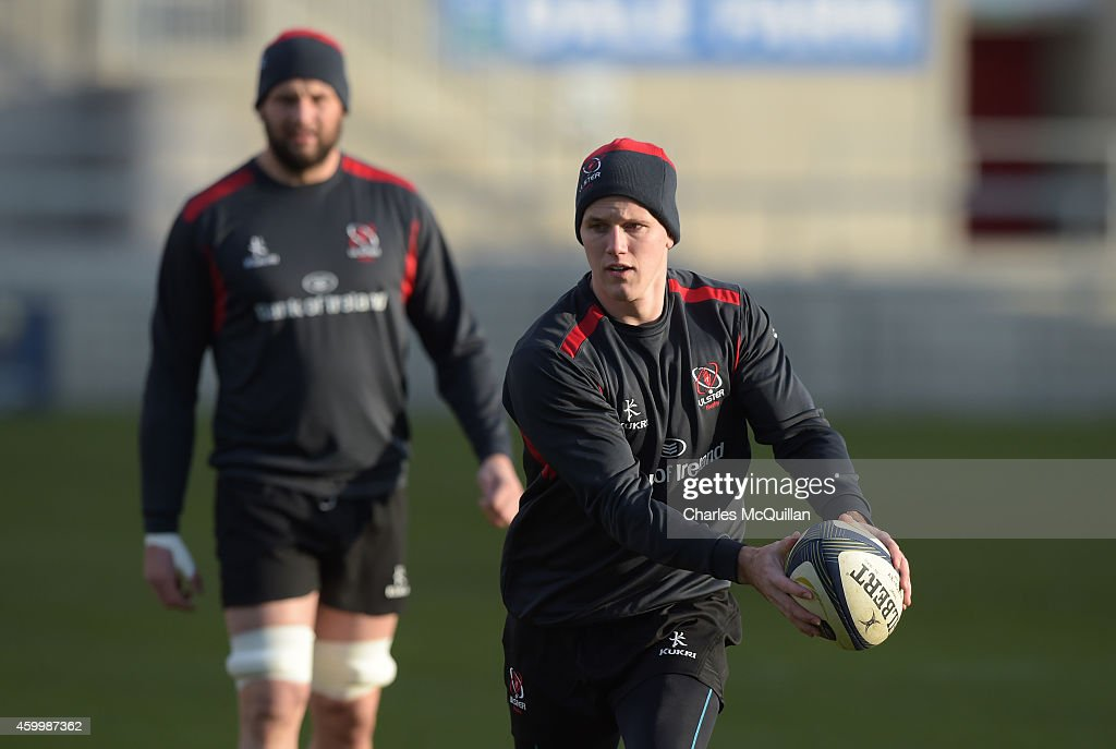 Ulster's Craig Gilroy during the Captain's Run for the European Rugby Champions Cup match between Ulster and Ospreys at Kingspan Stadium on December...