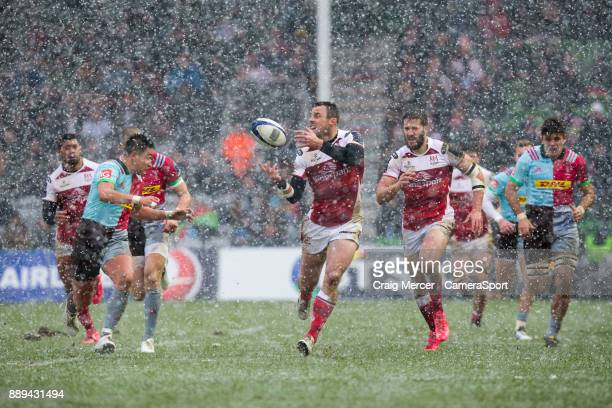 Ulsters Tommy Bowe in action during the European Rugby Champions Cup match between Harlequins and Ulster Rugby at Twickenham Stoop on December 10...