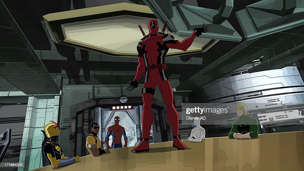 MAN - 'Ultimate Deadpool' - Spider-Man envies Deadpool's free-spirited life, but may change his mind after spending one day in Deadpool's madcap world. Will Friedle ('Boy Meets World') guest stars as Deadpool. This new episode of 'Ultimate Spider-Man' airs on SUNDAY, JULY 7 (11:30 a.m. - 12:00 p.m., ET/PT) on Marvel Universe on Disney XD. (Disney XD via Getty Images) NOVA, POWER