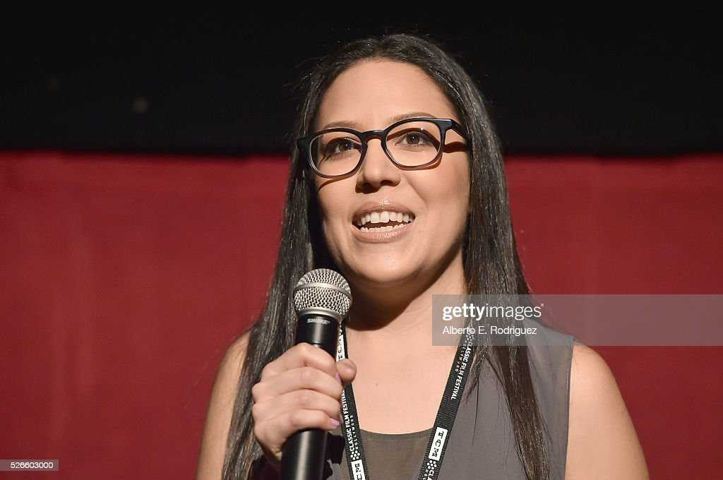 Ultimate Fan Contest winner Tiffany Vazquez speaks onstage at 'One Man's Journey' screening during day 3 of the TCM Classic Film Festival 2016 on April 30, 2016 in Los Angeles, California. 25826_006