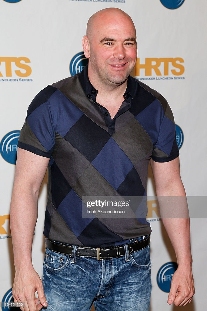 Ultimate Fighting Championship mixed martial arts organization President Dana White attends the HRTS 'Non-Scripted Hitmakers' Luncheon Panel at The Beverly Hilton Hotel on March 27, 2013 in Beverly Hills, California.