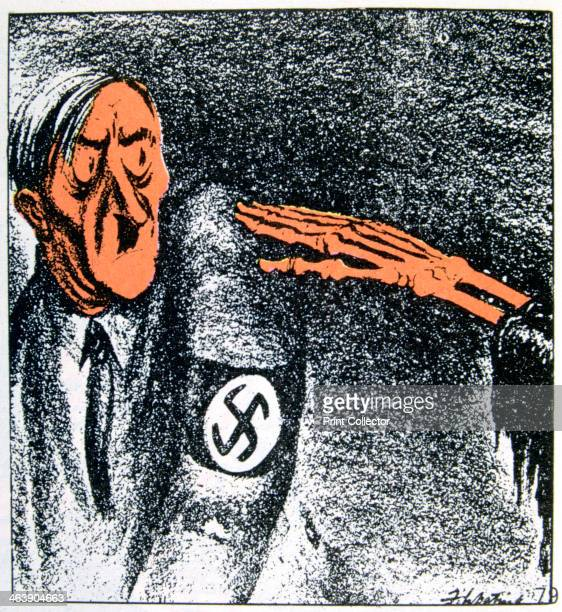 'Ultimate Heil' 20th century Adolf Hitler saluted by a skeletal hand A cartoon in the Denver Post