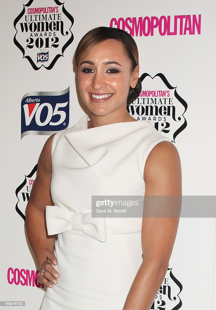 Ultimate Olympian Jessica Ennis poses in the press room at the Cosmopolitan Ultimate Woman of the Year awards at the Victoria & Albert Museum on October 30, 2012 in London, England.