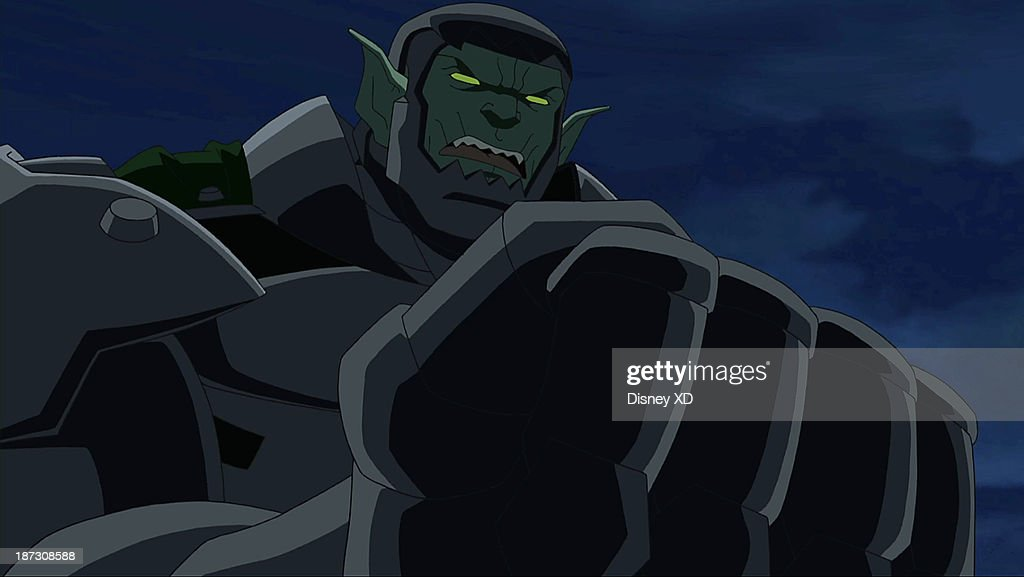 MAN - 'Ultimate' - Spider-Man fights alone against his own team to save all of New York from being turned into Green Goblins. This episode of 'Marvel's Ultimate Spider-Man' premieres SUNDAY, NOVEMBER 10 (11:00 AM - 11:30 AM ET/PT) on Disney XD. (Image by Disney XD via Getty Images) GREEN GOBLIN